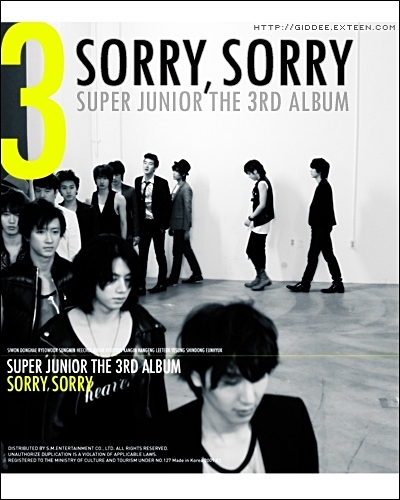Sorry sorry album cover