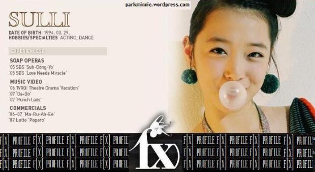 f(x) profile - sulli